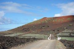 Lanzarote - Montana Quemada Stock Afbeeldingen