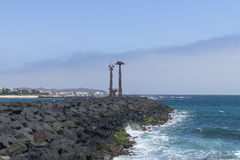 Lanzarote monuments. Monuments in Costa Teguise Town , Lanzarote , Canary Islands in Spain. Europe royalty free stock images