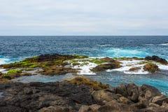 Lanzarote Natuurlijke Pools, Spanje, Europa stock foto