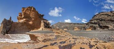 Lanzarote - paisaje en Charco de los Clicos Imágenes de archivo libres de regalías