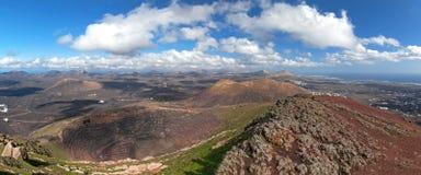 Lanzarote - Panorama from the Montana de Guardilama Royalty Free Stock Photos
