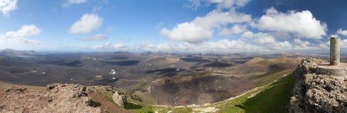Lanzarote - Panorama from the Montana de Guardilama Stock Images