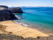 Lanzarote - Papagayo beach Stock Photos