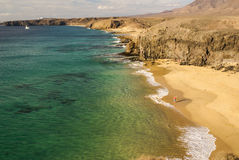 Lanzarote Papagayo in Canary Islands. Royalty Free Stock Photo
