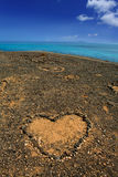 Lanzarote Papagayo and stones heart Royalty Free Stock Images