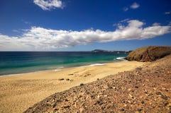 Lanzarote Papagayo turquoise beach Stock Image