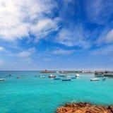 Lanzarote Playa Blanca beach in Atlantic Royalty Free Stock Images