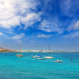 Lanzarote Playa Blanca beach in Atlantic Stock Photography