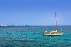 Lanzarote Playa Blanca beach in Atlantic Royalty Free Stock Photos
