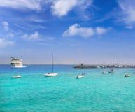 Lanzarote Playa Blanca beach in Atlantic Royalty Free Stock Photography