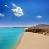 Lanzarote Playa del Pozo strandcosta Papagayo Arkivfoto