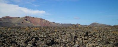 Lanzarote Powulkaniczny krajobraz 003 Obrazy Stock