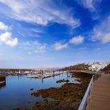 Lanzarote Puerto del卡门端口在坎那利岛 库存图片