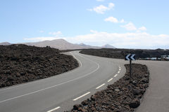 Lanzarote Road Royalty Free Stock Photography