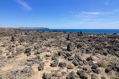 Lanzarote Rocky Beach 2 arkivbild