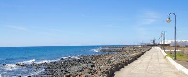 Lanzarote Rocky Beach 1 Stock Photo