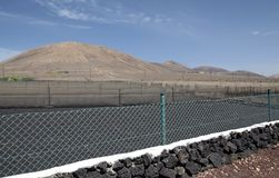 Lanzarote's agriculture field Stock Photography