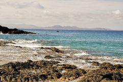 Lanzarote's coastline Royalty Free Stock Photos