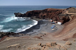 Lanzarote's fishing bay Stock Photo