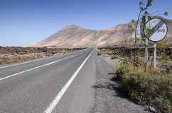 Lanzarote's hi-way Royalty Free Stock Photography