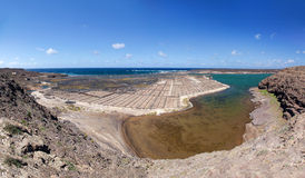 Lanzarote - The saline Salinas de Janubio Royalty Free Stock Photography