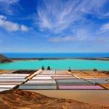 Lanzarote saltworks salinas de Janubio Royalty Free Stock Photo