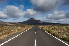 Lanzarote sceniczna droga Obrazy Stock