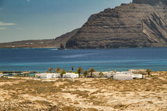 Lanzarote seen from Pedro Barba. Royalty Free Stock Photos