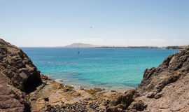 Lanzarote South Bay Royalty Free Stock Photography