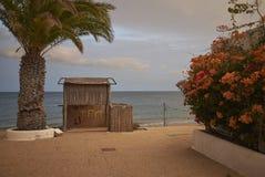 Abandoned resort in Puerto del Carmen. Lanzarote, Spain - August 21, 2015 : Abandoned resort in Puerto del Carmen in Lanzarote Royalty Free Stock Photography