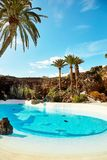 Jameos del Agua pool in Lanzarote Stock Photos