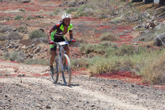 LANZAROTE, SPAIN - MAY 03: ANTONIO LAZARO N184 in action at Adve. Nture mountain bike marathon Ultrabike Santa Rosa May 03, 2015. Lanzarote, Canaries islands Stock Image