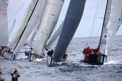 LANZAROTE, SPAIN - NOVEMBER 19: RC44 Class Association on Day 4 Royalty Free Stock Photo