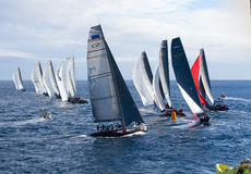 LANZAROTE, SPAIN - NOVEMBER 19: RC44 Class Association on Day 4 Royalty Free Stock Images