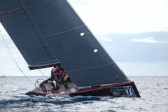 LANZAROTE, SPAIN - NOVEMBER 19: RC44 Class Association on Day 4 Stock Photo