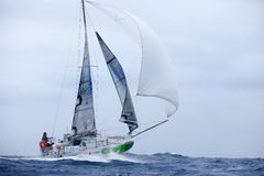 LANZAROTE, SPAIN - OCTOBER 31: Simon Koster with sail boat 888 i Stock Photo