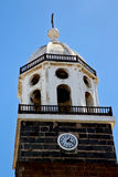 Lanzarote  spain the old wall tower in teguise arrecife Royalty Free Stock Photos