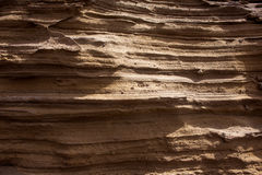 Lanzarote stone mountain cross section strata Royalty Free Stock Photo