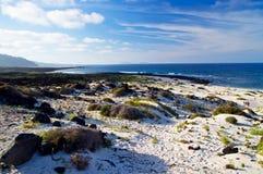 Lanzarote strand Royaltyfri Fotografi