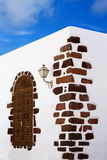 Lanzarote Teguise white village in Canary Islands Stock Photography