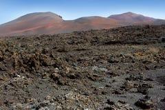 Lanzarote Timanfaya火山火山的熔岩 库存图片