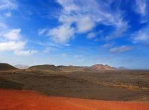 Lanzarote Timanfaya火山火山的熔岩 免版税图库摄影