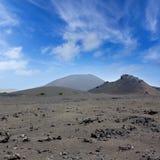 Lanzarote Timanfaya火山火山的熔岩 库存照片