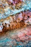 Lanzarote Timanfaya färgrik lavasten Royaltyfri Fotografi