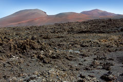 Lanzarote Timanfaya Fire Mountains volcanic lava Stock Image