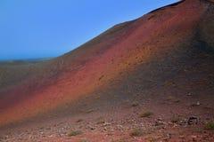 Lanzarote Timanfaya Fire Mountains volcanic lava Royalty Free Stock Image