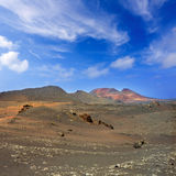 Lanzarote Timanfaya Fire Mountains volcanic lava Royalty Free Stock Photography
