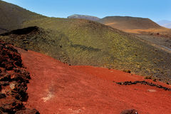 Lanzarote Timanfaya Fire Mountains volcanic lava Royalty Free Stock Images