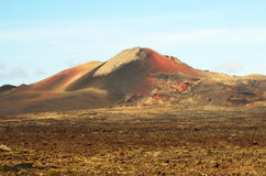 Lanzarote, Timanfaya volcanic park Royalty Free Stock Image
