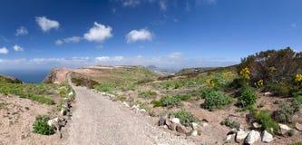 Lanzarote - traccia dal Mirador del Bosquecillo a Haria fotografia stock libera da diritti